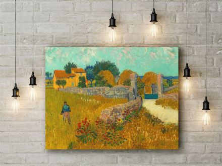 Vincent van Gogh: Farmhouse in Provence. Fine Art Canvas.